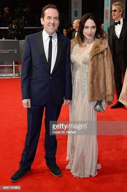 Ben Miller and Jessica Parker attend the EE British Academy Film Awards 2014 at The Royal Opera House on February 16 2014 in London England