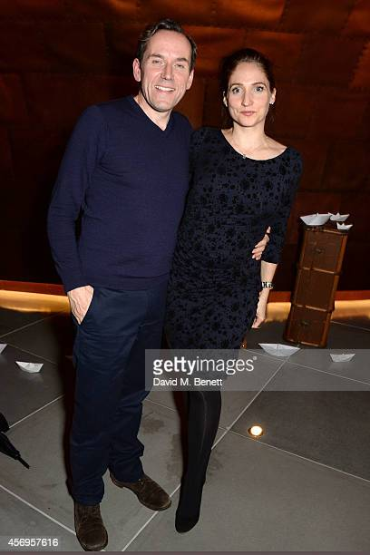 Ben Miller and Jessica Parker attend the launch party as Mondrian London opens its doors on London's South Bank at Mondrian Hotel on October 9 2014...