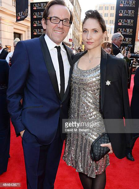 Ben Miller and Jessica Parker attend the Laurence Olivier Awards at The Royal Opera House on April 13 2014 in London England