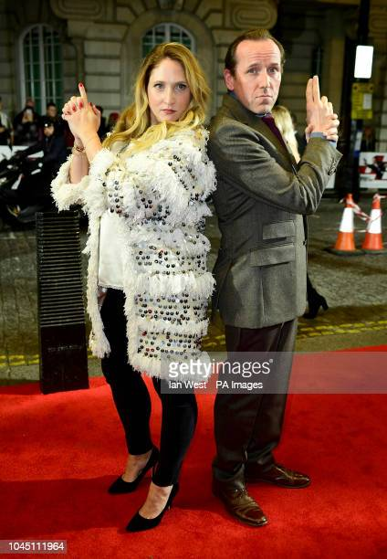 Ben Miller and Jessica Parker attending the Johnny English Strikes Again screening held at Curzon Mayfair London