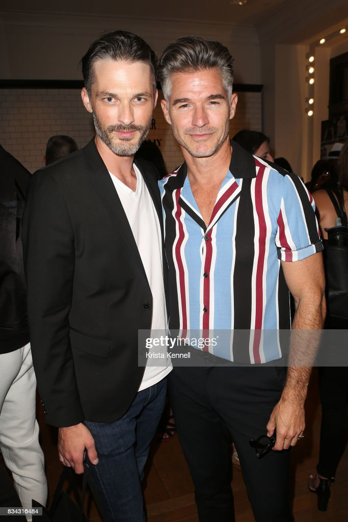 Ben Mills and Eric Rutherford of the Misshapes performs at Todd Snyder Flagship Store on August 17, 2017 in New York City.