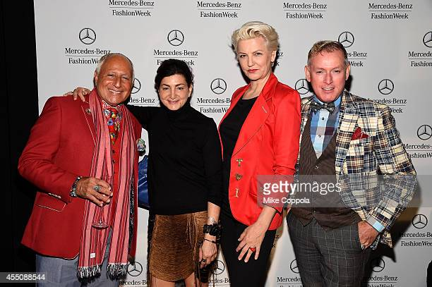 Ben Mindich, Sophia Tezel, Mariana Verkerk, and Montgomery Frazier attend the Mercedes-Benz Lounge during Mercedes-Benz Fashion Week Spring 2015 at...