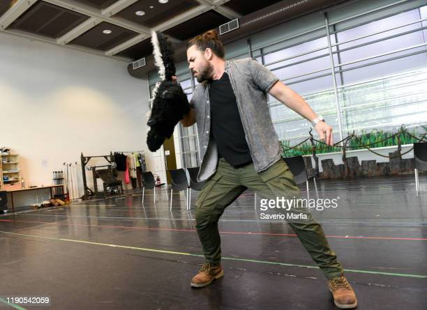 Ben Mingay Performs during Shrek The Musical rehearsals on November 28 2019 in Sydney Australia