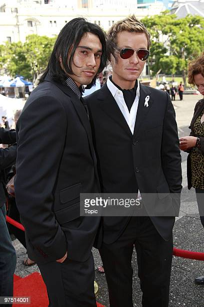 Ben Mitchell and Adam Rickitt attend the Qantas New Zealand Television Awards at the Aoteo Centre on November 24 2007 in Auckland New Zealand