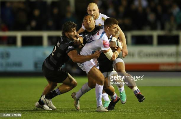 Ben Moon of Execter Chiefs is seen during the Gallagher Premiership Rugby match between Newcastle Falcons and Exeter Chiefs at Kingston Park on...
