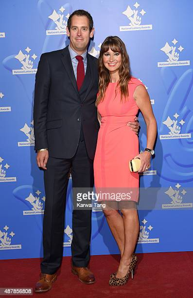 Ben Moore and Ellie Crisell attend the National Lottery Awards at The London Television Centre on September 11 2015 in London England