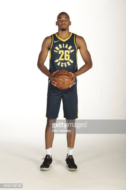 Ben Moore of the Indiana Pacers poses for a head shot during the Pacers Media Day on September 24 2018 in Indianapolis Indiana NOTE TO USER User...