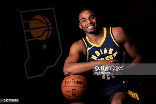 Ben Moore of the Indiana Pacers poses for a portrait during the Pacers Media Day on September 24 2018 at Bankers Life Field House in Indianapolis...