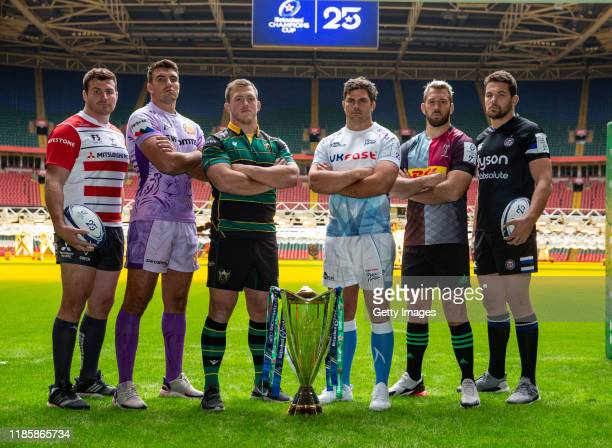 Ben Morgan of Gloucester Rugby Jack Yeandle of Exeter Chiefs Alex Waller of Northampton Saints Jono Ross of Sale Sharks Chris Robshaw of Harlequins...