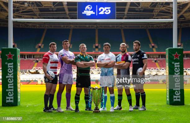 Ben Morgan of Gloucester Rugby, Jack Yeandle of Exeter Chiefs, Alex Waller of Northampton Saints, Jono Ross of Sale Sharks, Chris Robshaw of...