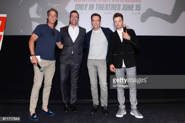 Ben Mulroney actors Jon Hamm Ed Helms and Jeremy Renner attend #TAGinTO an exclusive Canadian screening of the upcoming comedy TAG in theaters June...
