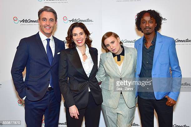 Ben Mulroney Amy Cappellazzo Lena Dunham and K'naan Warsame attend ArtsConnection 2016 Benefit Celebration at 583 Park Avenue on May 23 2016 in New...