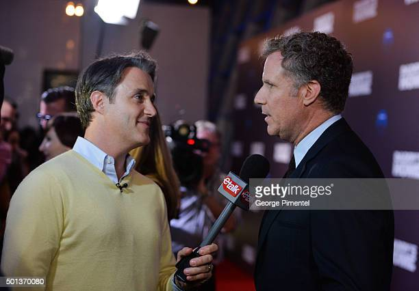 Ben Mulroney and actor Will Ferrell attend the 'Daddy's Home' red carpet premiere at Scotiabank Theatre on December 14 2015 in Toronto Canada