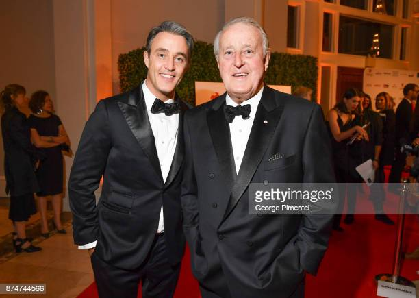 Ben Mulroney and Brian Mulroney attends 2017 Canada's Walk of Fame at The Liberty Grand on November 15 2017 in Toronto Canada