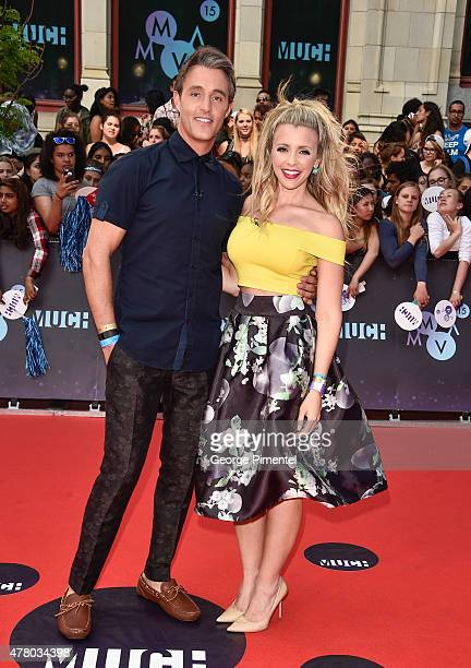 Ben Mulroney and Danielle Graham arrive at the 2015 MuchMusic Video Awards at MuchMusic HQ on June 21 2015 in Toronto Canada