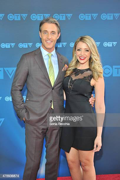 Ben Mulroney and Danielle Graham attend CTV Upfront 2015 Presentation at Sony Centre For Performing Arts on June 4 2015 in Toronto Canada