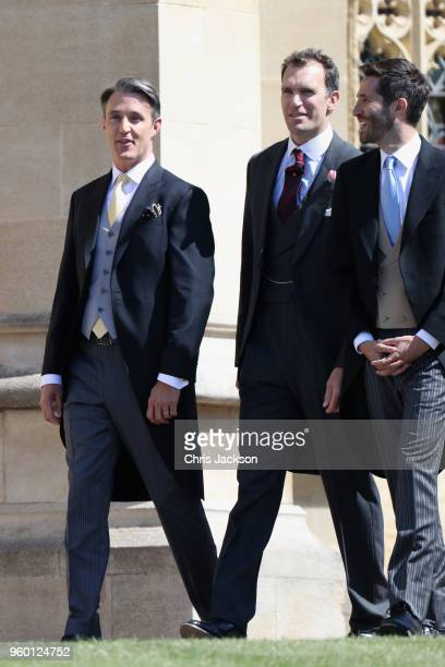 Ben Mulroney and guests arrive at the wedding of Prince Harry to Ms Meghan Markle at St George's Chapel Windsor Castle on May 19 2018 in Windsor...