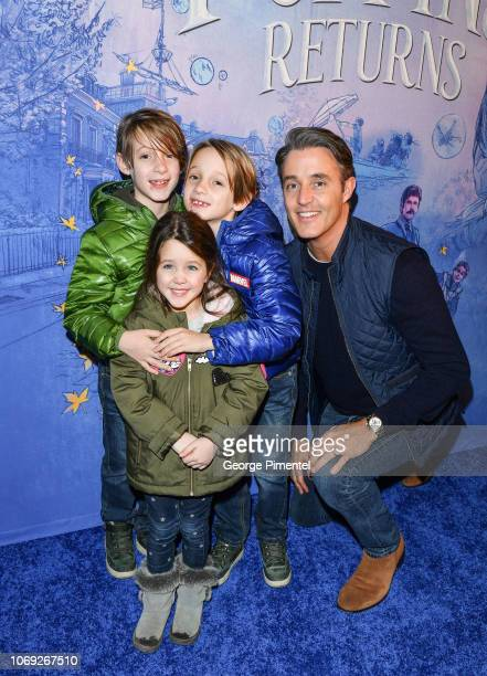 Ben Mulroney and his children attend 'Mary Poppins Returns' Special Canadian Screening>> at Scotiabank Theatre on December 6 2018 in Toronto Canada