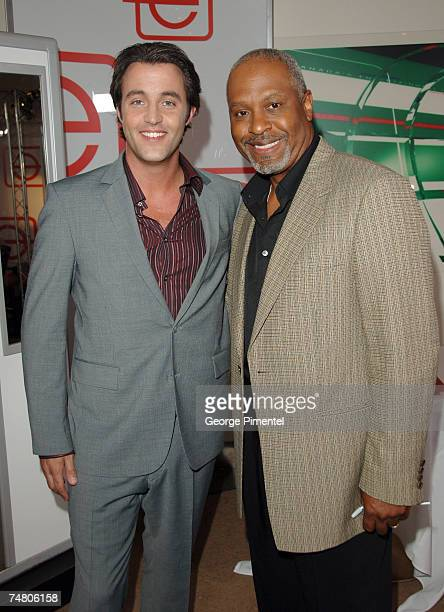Ben Mulroney and James Pickens Jr at the The Hummingbird Centre in Toronto Canada