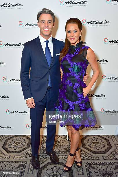 Ben Mulroney and Jessica Brownstein attend ArtsConnection 2016 Benefit Celebration at 583 Park Avenue on May 23 2016 in New York City
