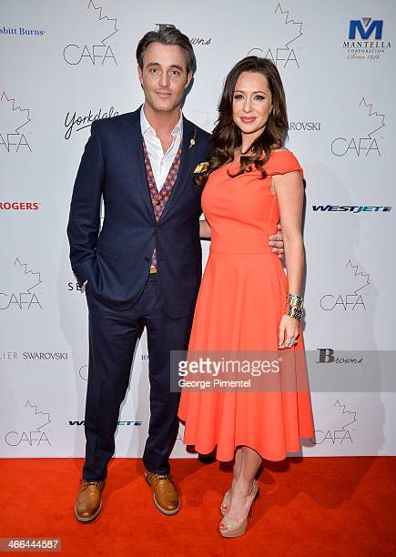 Ben Mulroney and Jessica Mulroney arrive at the 1st Annual Canadian Arts and Fashion Awards at the Fairmont Royal York Hotel on February 1 2014 in...
