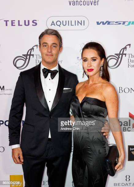 Ben Mulroney and Jessica Mulroney arrive for the David Foster Foundation Gala at Rogers Arena on October 21 2017 in Vancouver Canada