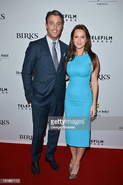 Ben Mulroney and Jessica Mulroney attend the Telefilm/Birks/ShangriLa Hosted Champagne Rendezvous For Canadian Women In Film at ShangriLa Hotel...