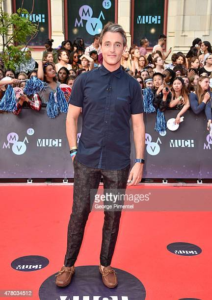 Ben Mulroney arrives at the 2015 MuchMusic Video Awards at MuchMusic HQ on June 21 2015 in Toronto Canada