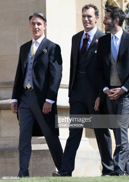 Ben Mulroney arrives for the wedding ceremony of Britain's Prince Harry Duke of Sussex and US actress Meghan Markle at St George's Chapel Windsor...