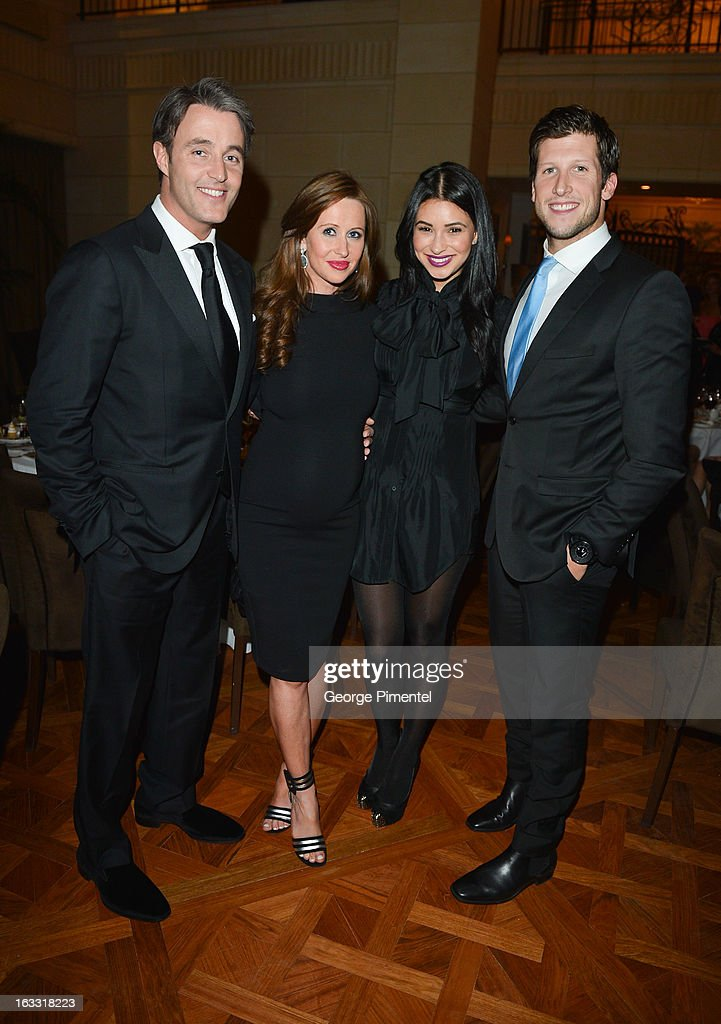 Ben Mulroney, Jessica Mulroney, Bianka Kamber and Brad Smith attend Operation Smile's Toronto attend Operation Smile's Toronto Smile Event at Windsor Arms Hotel on March 7, 2013 in Toronto, Canada.