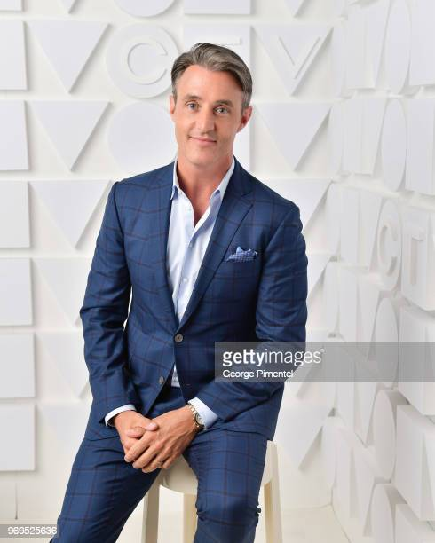 Ben Mulroney poses at the CTV Upfronts portrait studio held at the Sony Centre For Performing Arts on June 7 2018 in Toronto Canada