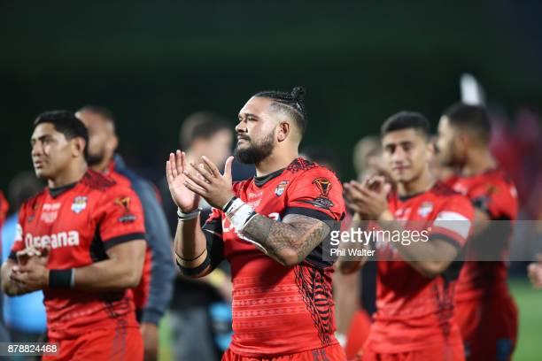 Ben MurdochMasila of Tonga following the 2017 Rugby League World Cup Semi Final match between Tonga and England at Mt Smart Stadium on November 25...