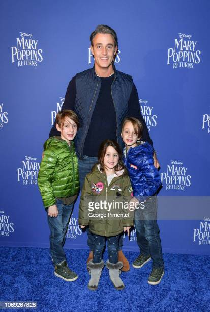Ben Muroney and his children attend 'Mary Poppins Returns' Special Canadian Screening at Scotiabank Theatre on December 6 2018 in Toronto Canada