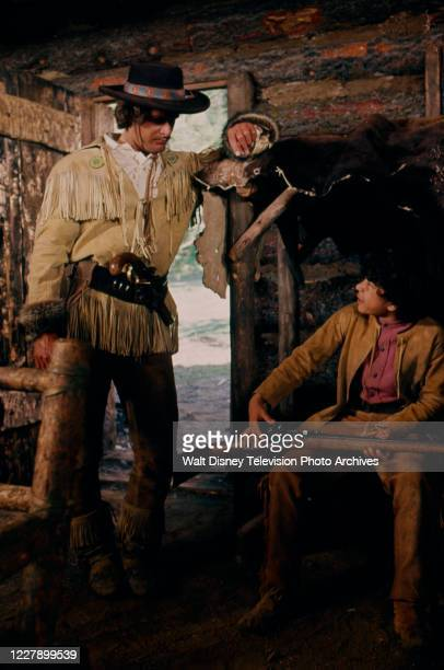 Ben Murphy, Allan Reyes appearing in the western / period piece ABC tv movie 'Bridger'.