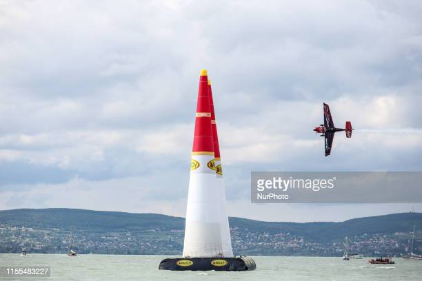 Ben Murphy from the United Kingdom Blades Racing Team competes in Masters Class qualification of Red Bull Air Race at Lake Balaton Hungary on July 13...