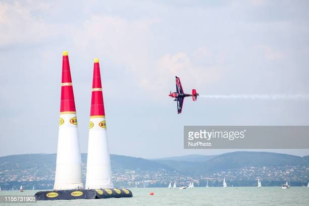Ben Murphy of Great Britain Blades Racing Team competes in Masters Class Round of 14 of Red Bull Air Race World Championship at Lake Balaton Zamardi...