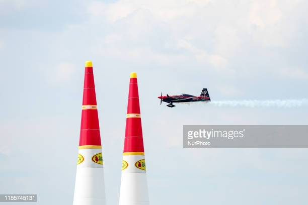 Ben Murphy of Great Britain Blades Racing Team competes in Masters Class Round of 8 of Red Bull Air Race World Championship at Lake Balaton Zamardi...