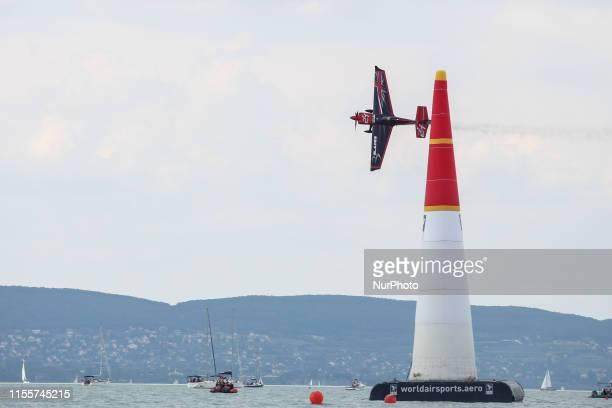 Ben Murphy of Great Britain Blades Racing Team competes in Masters Class Final 4 of Red Bull Air Race World Championship at Lake Balaton Zamardi...