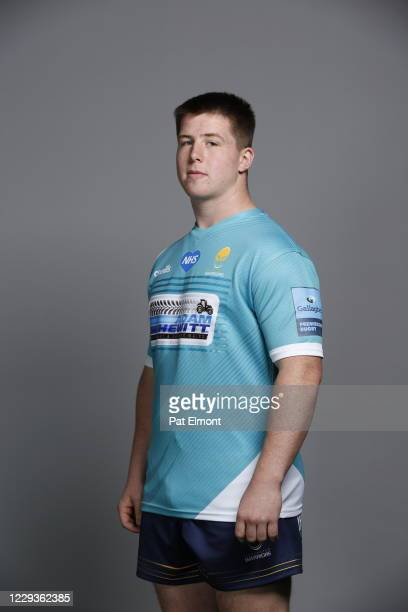 Ben Murphy poses for a portrait during the Worcester Warriors squad photo call for the 202021 Gallagher Premiership Rugby season on on October 28...