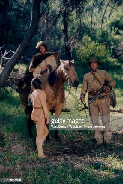 Ben Murphy, Sally Fields, James Wainwright appearing in the western / period piece ABC tv movie 'Bridger'.