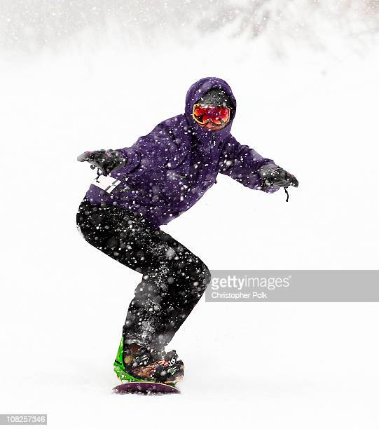 Ben Nemtin from MTV's The Buried Life snowboards with Burton Snowboards at the Park City Mountain Resort during the 2011 Sundance Film Festival on...