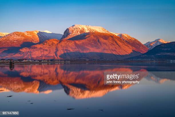 Ben Nevis in the Scottish Highlands at sunset, UK.