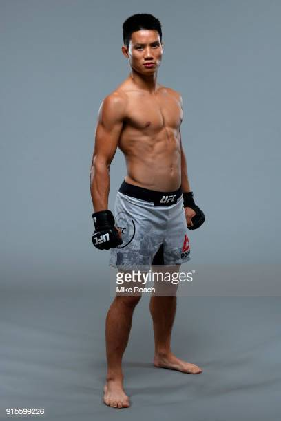Ben Nguyen poses for a portrait during a UFC photo session on February 7, 2018 in Perth, Australia.