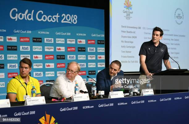 Ben Nichols Director of Communications and Public Affairs Commonwealth Games Federation during a press conference on day seven of the Gold Coast 2018...