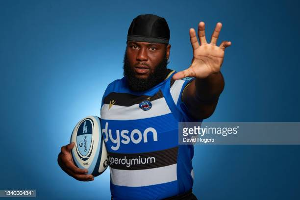 Ben Obano of Bath Rugby poses for a photo during the Gallagher Premiership Rugby Season Launch at Twickenham Stadium on September 09, 2021 in London,...