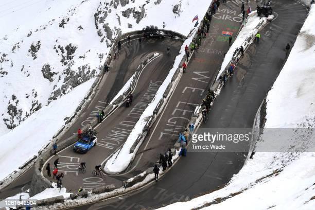 Ben O'connor of Australia and NTT Pro Cycling Team / Matteo Sobrero of Italy and NTT Pro Cycling Team / Passo dello Stelvio - Stilfserjoch /...