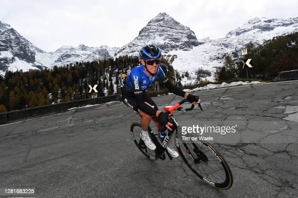 Ben O'connor of Australia and NTT Pro Cycling Team / Passo dello Stelvio - Stilfserjoch / Mountains / Snow / during the 103rd Giro d'Italia 2020,...