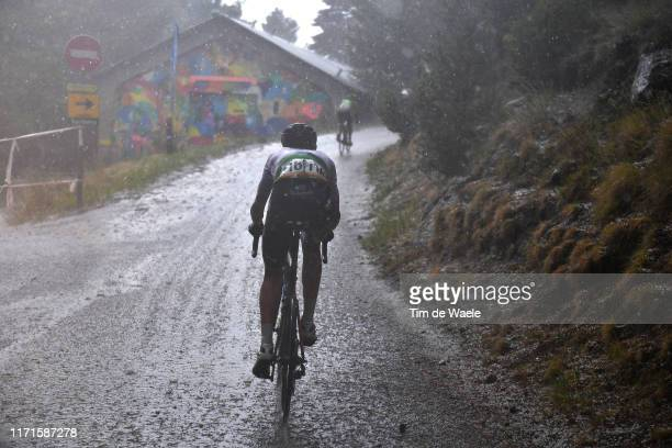 Ben O'Connor of Australia and Team Dimension Data / Alto De Engolasters / Rain / Hail / Gravel Strokes / during the 74th Tour of Spain 2019, Stage 9...