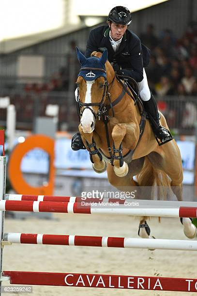 Ben of England rides Don Vito during the FEI Longines CSI5* World Cup Small Tour By BMW Jumping Verona 2016 on November 10 2016 in Verona Italy