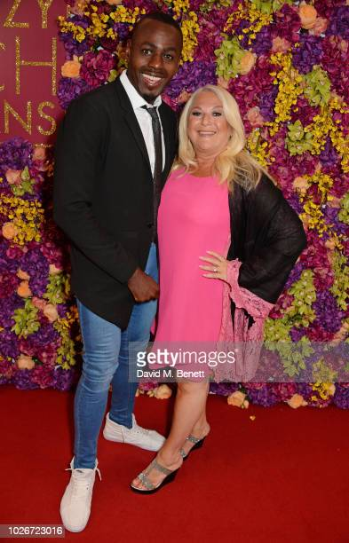 Ben Ofoedu and Vanessa Feltz attend a special screening of Crazy Rich Asians at The Ham Yard Hotel on September 4 2018 in London England